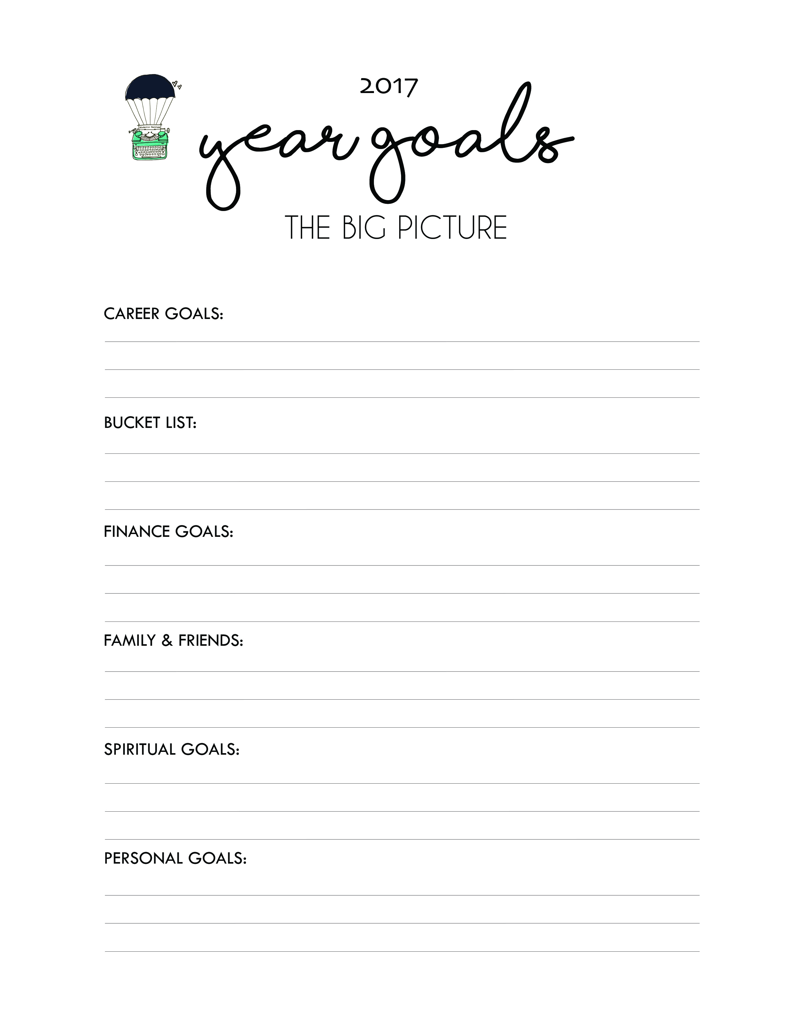 goal setting guide for  share this